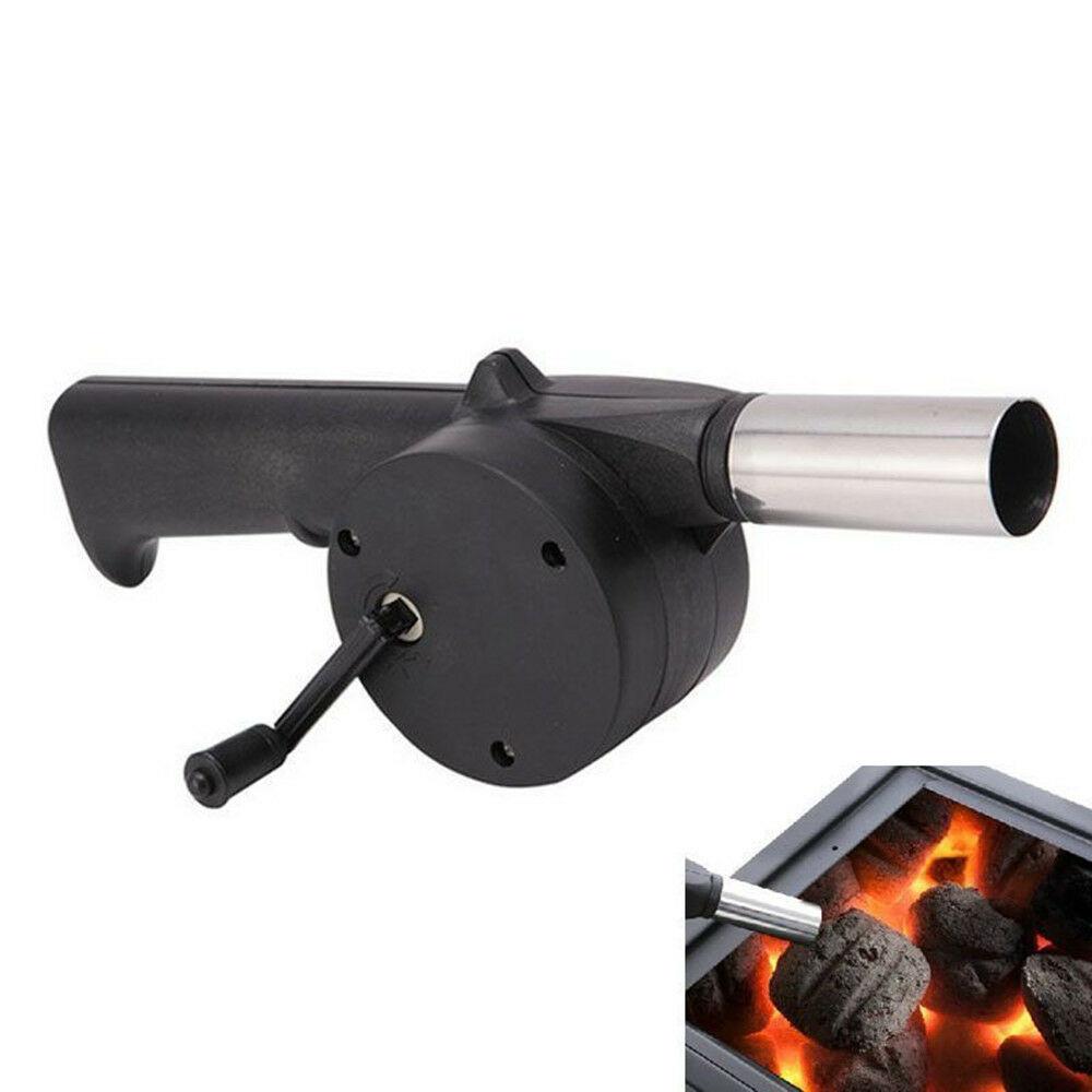 Hand Crank Bbq Fan Air Blower Powered Fire Bellows Outdoor
