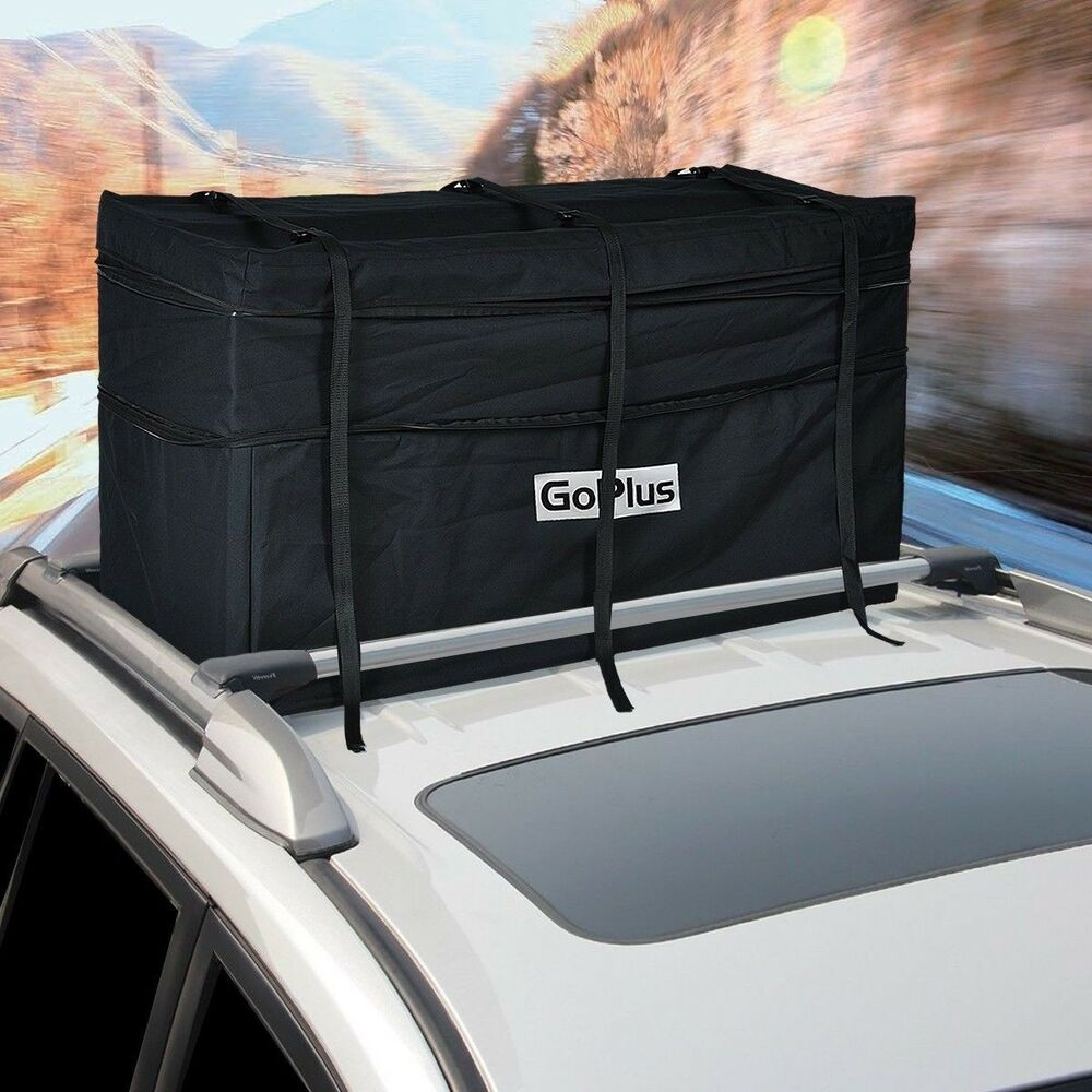 jumbo car suv roof top waterproof luggage travel cargo rack storage bag carrier ebay. Black Bedroom Furniture Sets. Home Design Ideas