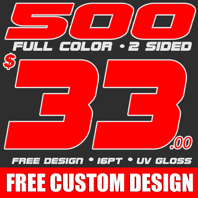 500 CUSTOM FULL COLOR BUSINESS CARDS FREE DESIGN FREE