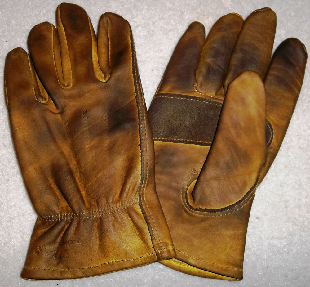 Motorcycle gloves large - Custom Oiled Waxed Distressed Leather Motorcycle Gloves Harley Chopper Vintage Ebay