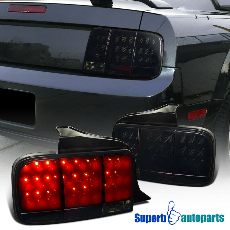 2005 2009 ford mustang sequential led tail brake lights glossy black. Black Bedroom Furniture Sets. Home Design Ideas