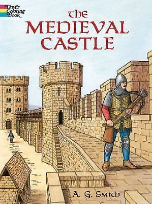 Dover the medieval castle adult coloring book a g smith fine new 2002