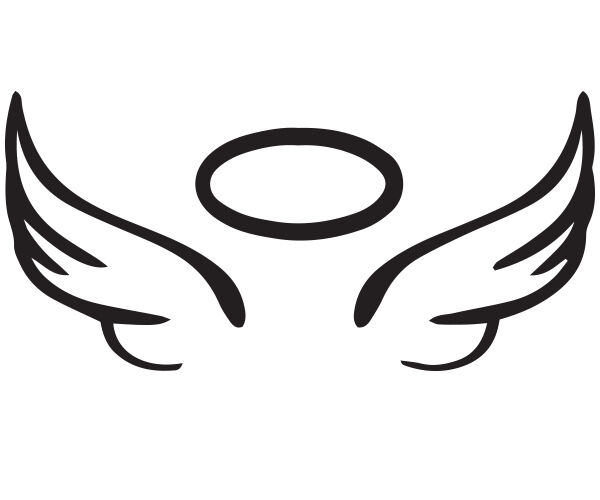 Angel Wing Halo Vinyl Car Decal In Memory Rip Glass 5 Quot X 2 25 Quot Sticker Ebay