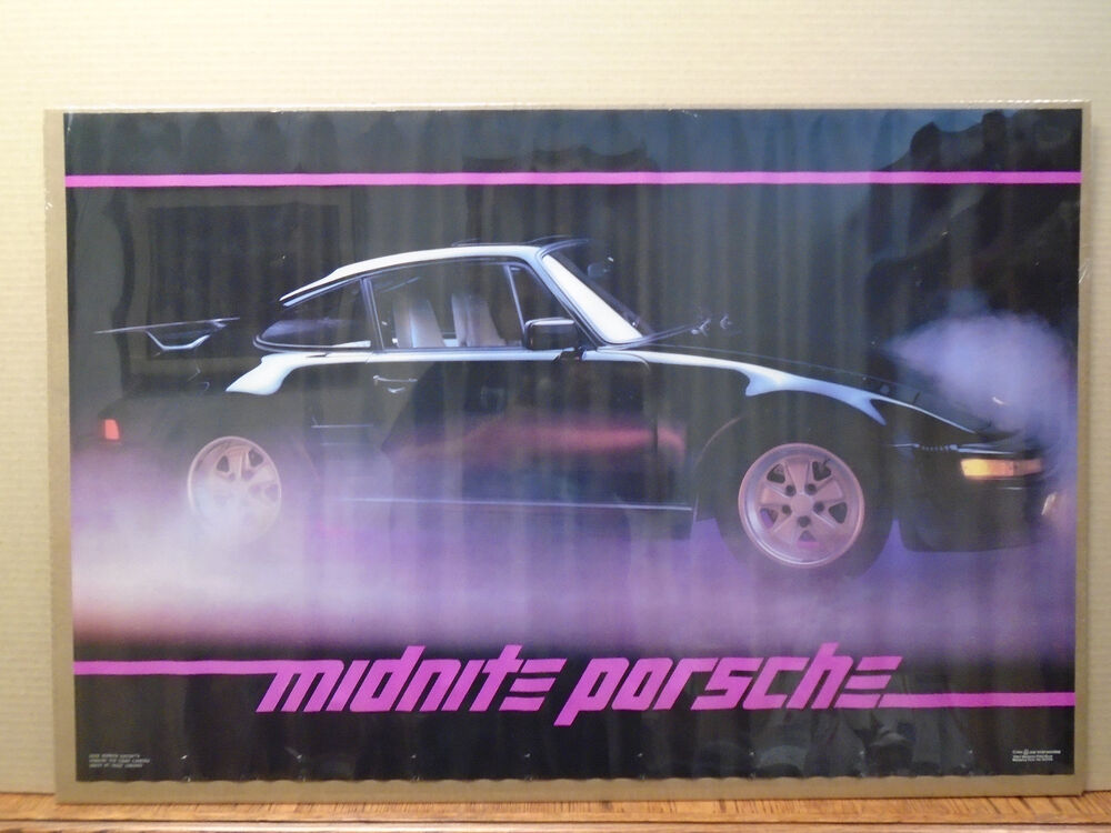 Man Cave Posters For Sale : Vintage turbo carrera midnite porsche poster car