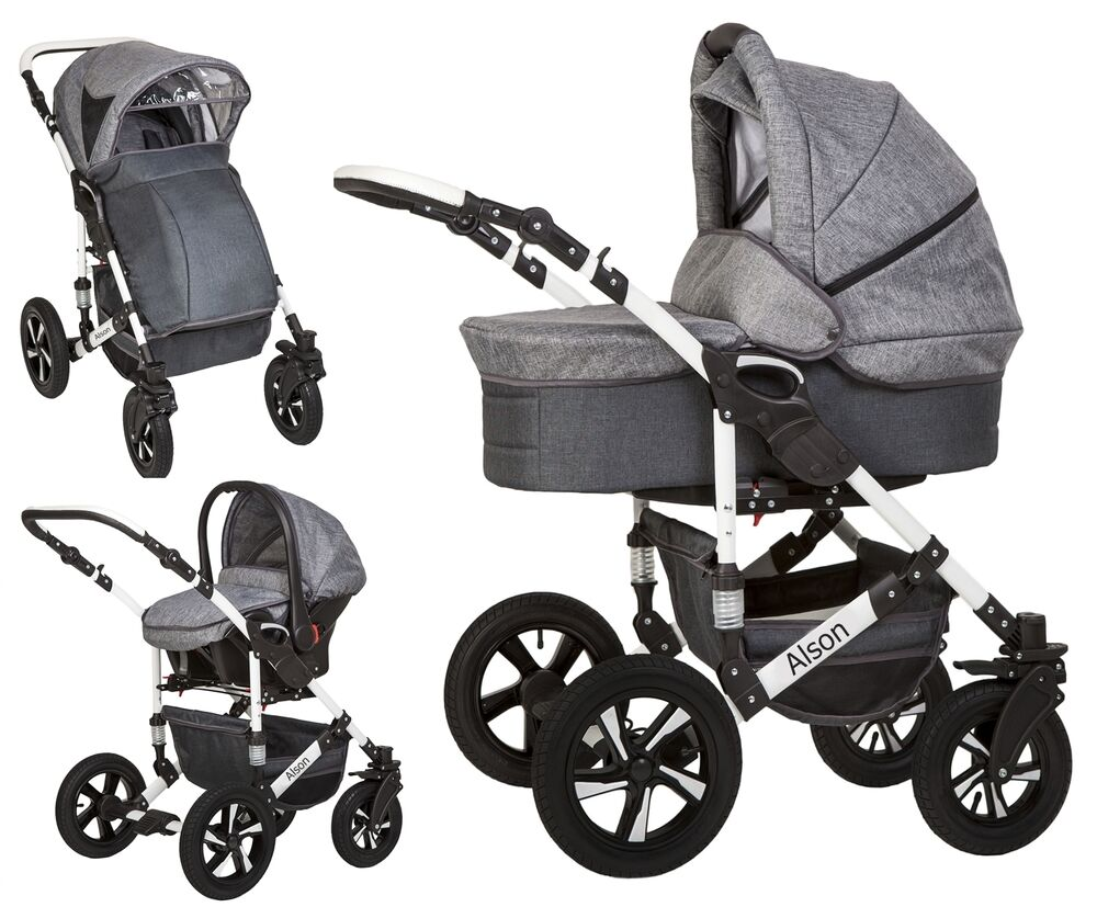 baby pram pushchair buggy stroller car seat travel system 3 in 1 new ebay. Black Bedroom Furniture Sets. Home Design Ideas