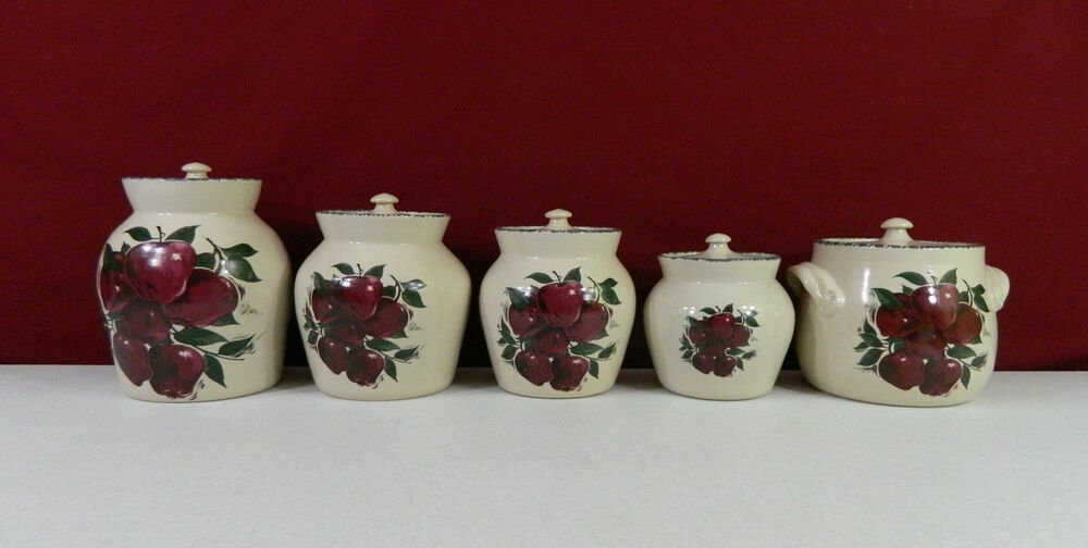 Home Garden Party Canister Set Bean Pot Or Cookie Jar