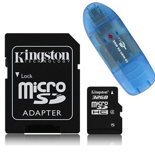 kingston 32gb 32g class 4 micro sd micro sdhc tf t flash memory card r ebay. Black Bedroom Furniture Sets. Home Design Ideas