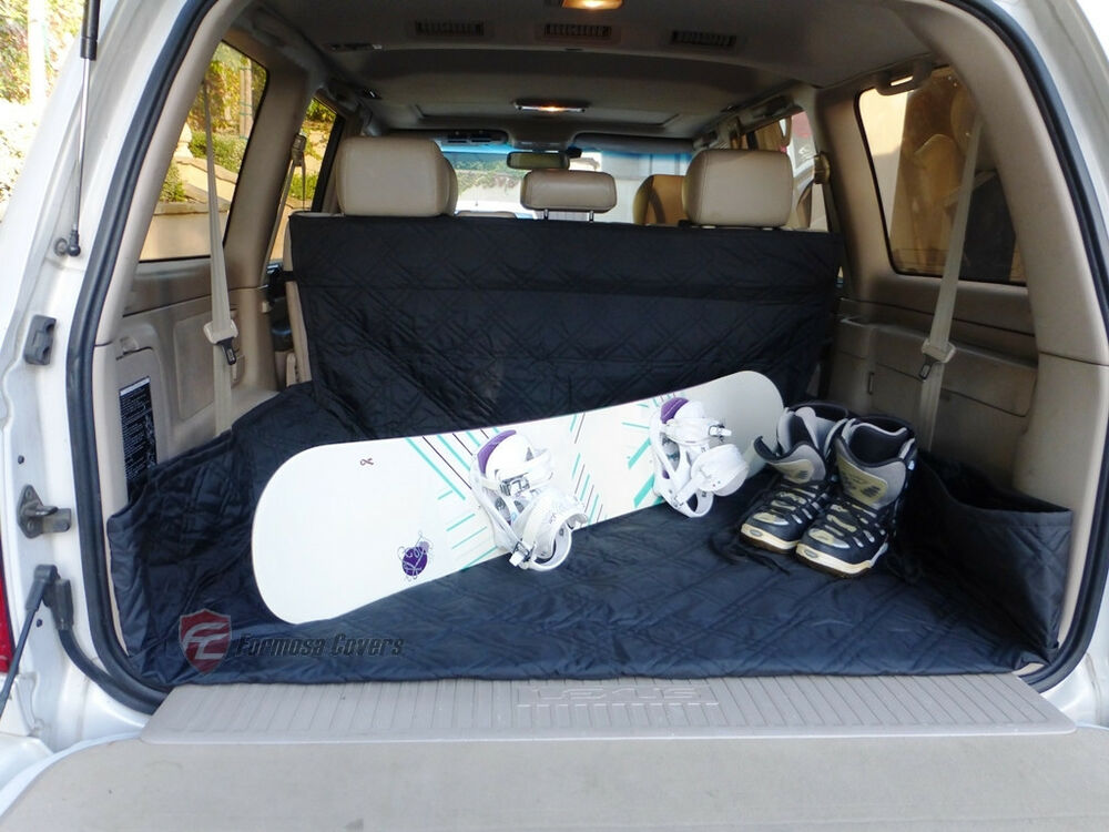 Suv Truck Van Car Cargo Liner Cargo Mat Cover Quilted Washable 93 L Black New Ebay