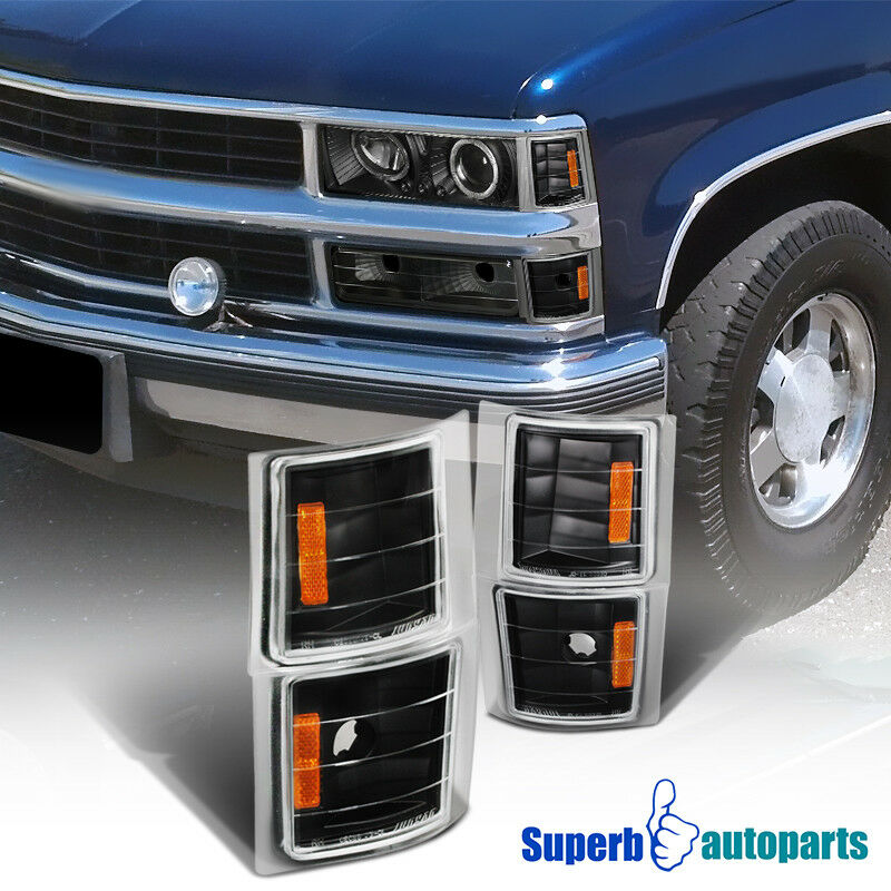 1994 1998 chevy c10 pickup truck corner lights black tahoe suburban specd tuning ebay for 1998 chevy tahoe interior parts