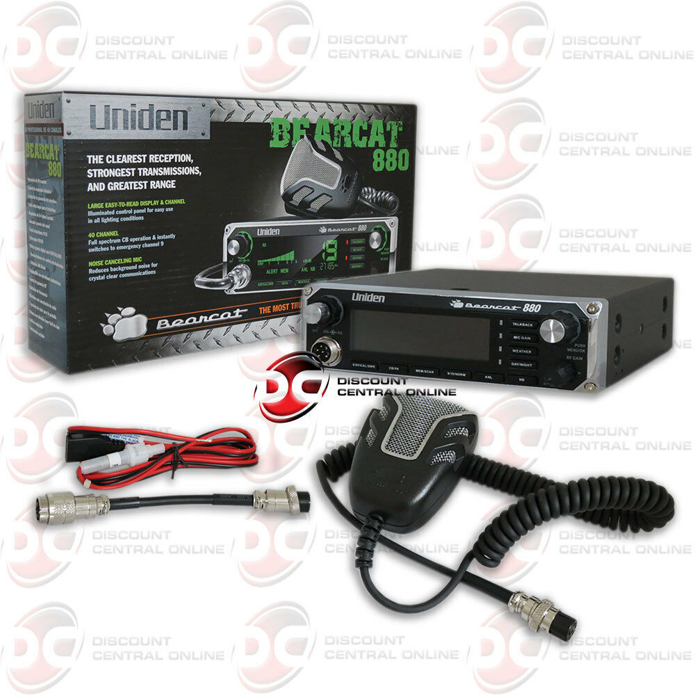 uniden bearcat880 40 channel cb radio with noise cancelling microphone ebay