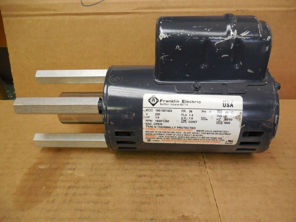 Franklin Electric Motor 1901007403 1 4 Hp 1 4hp 230v 1ph