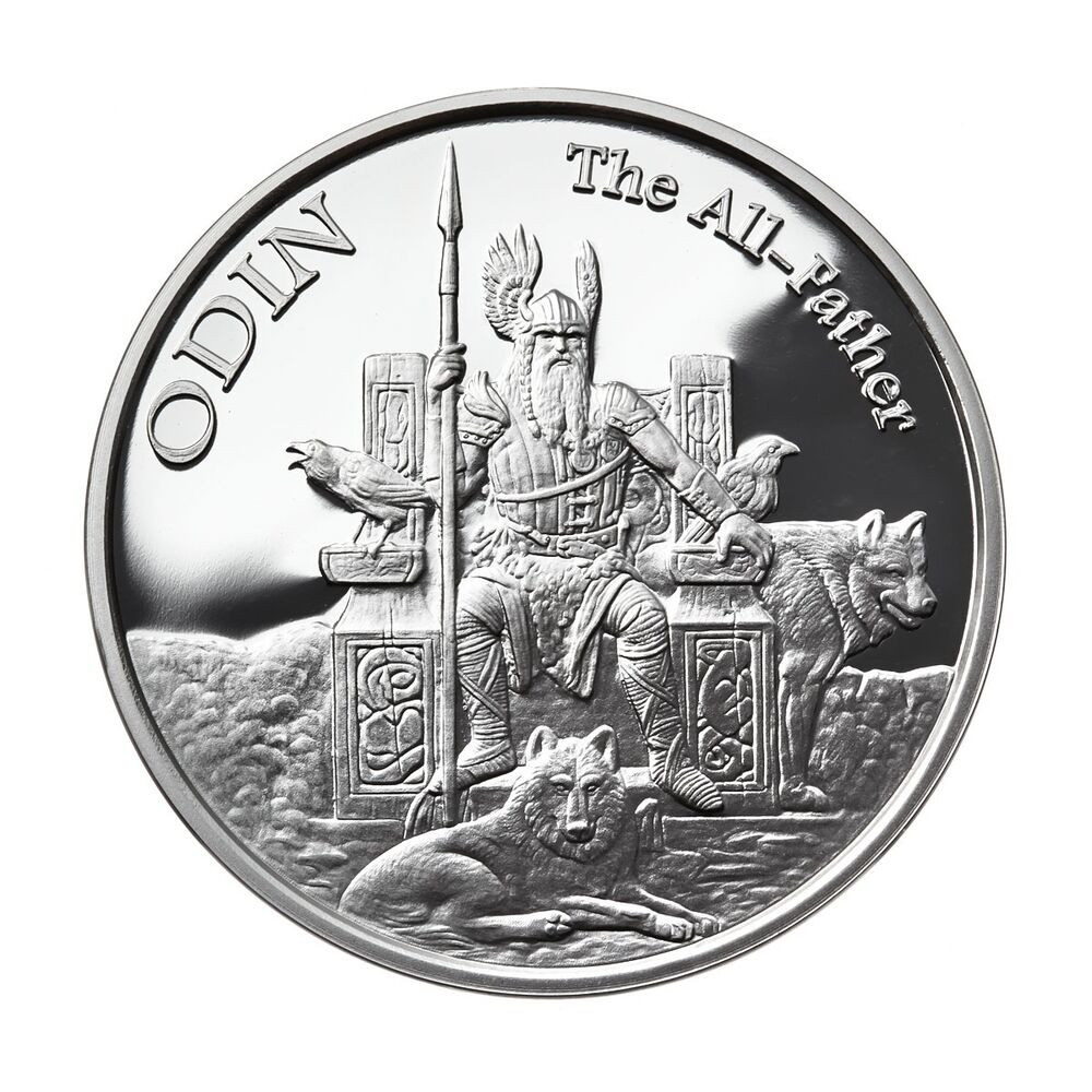 1 Oz Silver Coin Odin Valkyrie Norse God Series 1 In