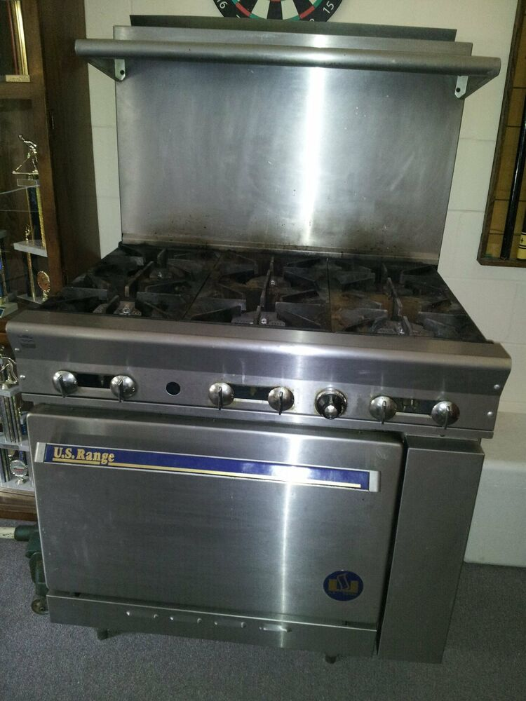 6 burner us range propane Model pg26 works very well | eBay