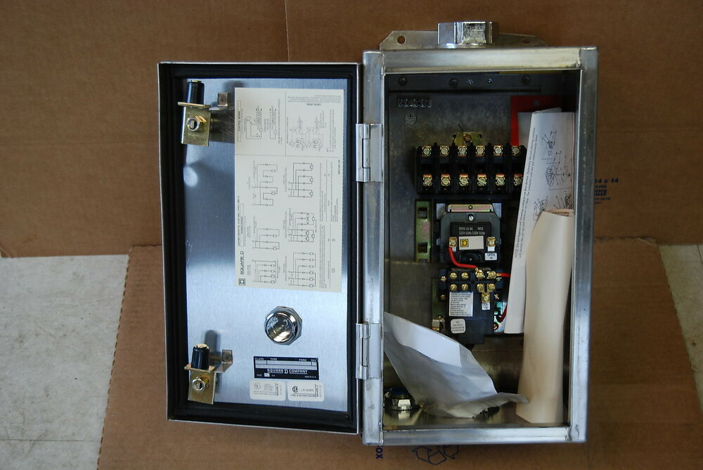 Square D 20 Amp 8903 Lighting Contactor 6 Pole Stainless