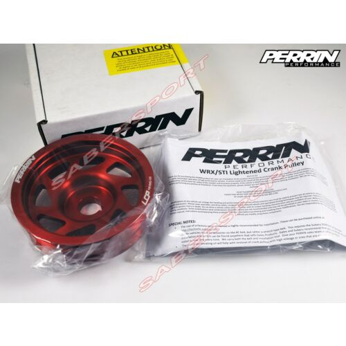 in-stock-perrin-lightweight-red-crank-pulley-for-20022014-wrx-0417-sti