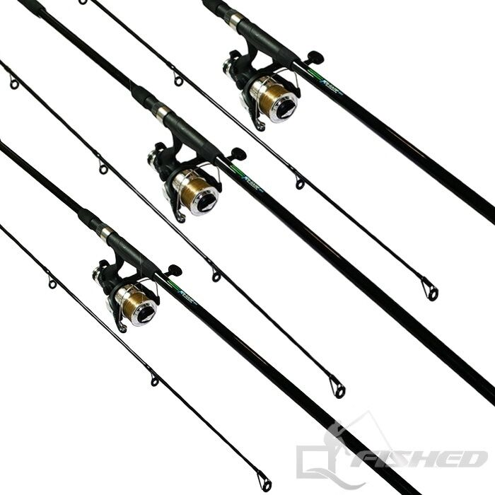 3 x carp fishing rods and reels 12ft fishing rod with for How many fishing rods per person in texas