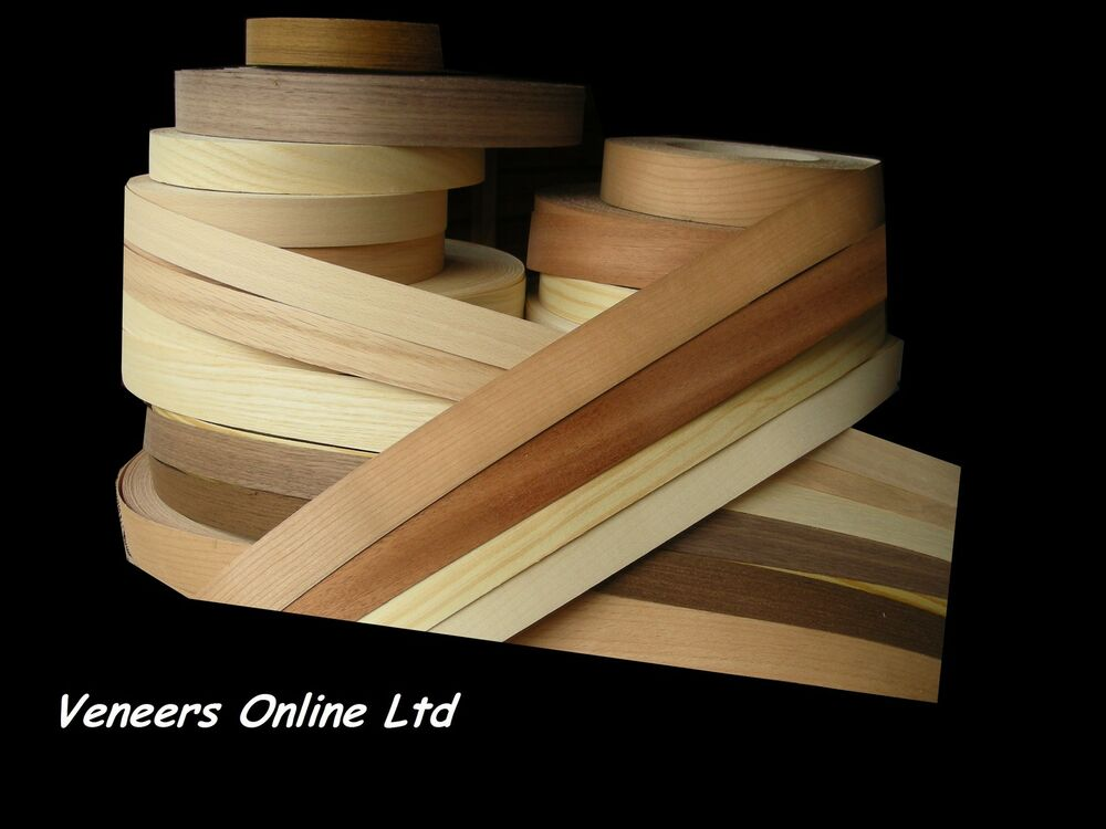 Edge Banding Tape Iron On Natural Real Wood Veneer Edging
