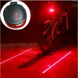 Kyпить 5 LED + 2 Laser Bike Bicycle Light Rear Tail Flashing Safety Warning Lamp Night на еВаy.соm