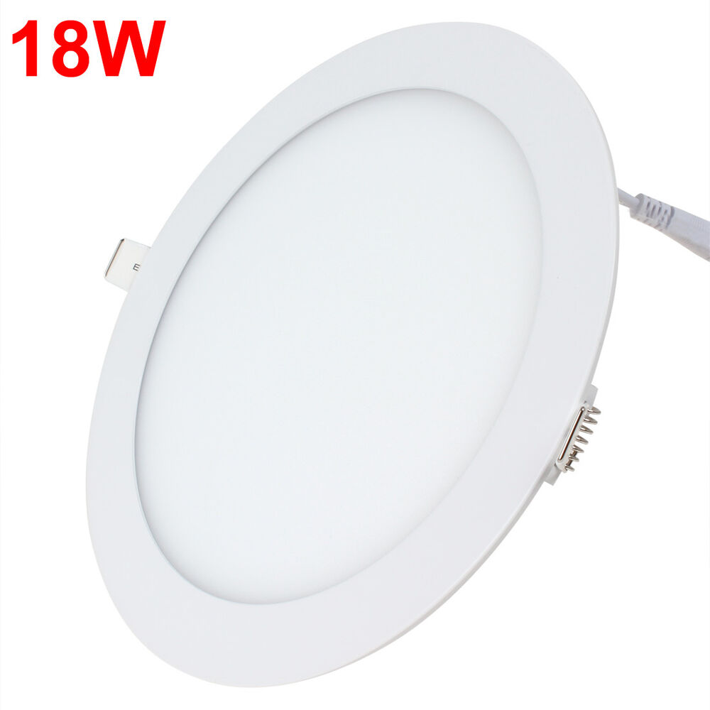 6w 12w 18w 24w Led Recessed Ceiling Flat Panel Down Light: 18W Ultra Thin 225mm Ceiling Round Flat Panel LED Down