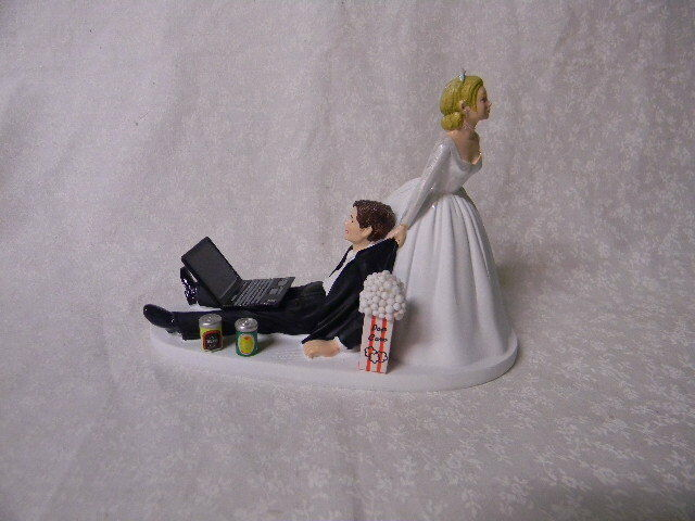 beer wedding cake topper wedding cans laptop computer 11259