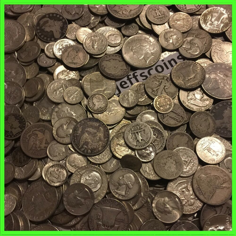 Estate Sale Lot Old Us 90 Silver Coins Bullion Free