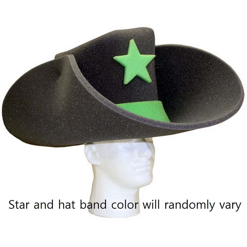 50 Gallon Foam Cowboy Hat, Charcoal | eBay 10 Gallon Cowboy Hat Front
