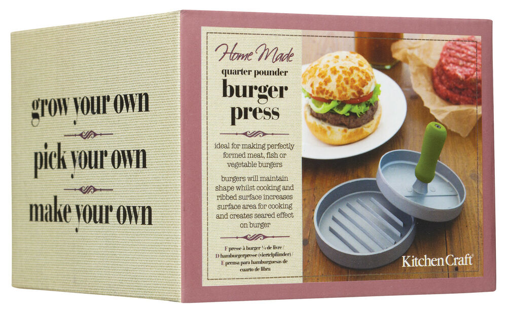 Details About Kitchen Craft Heavy Duty Quarter Pounder Homemade Beef Burger Press Maker
