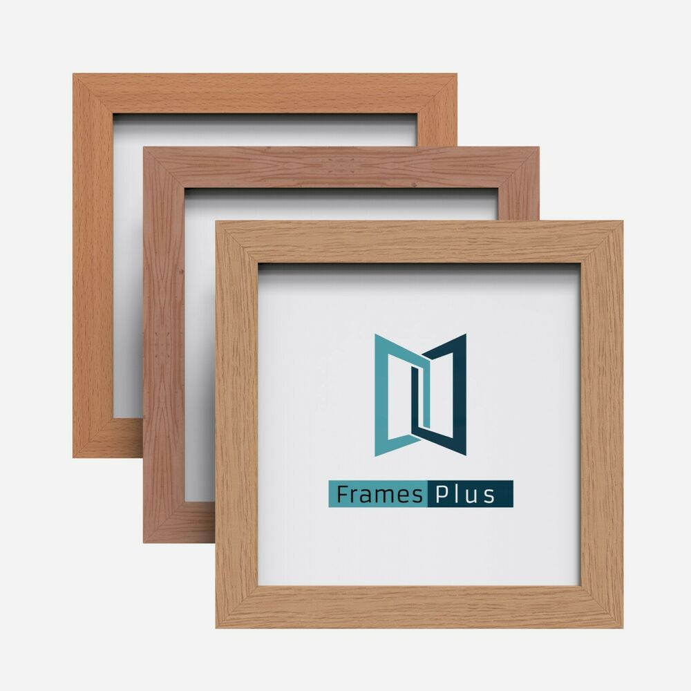 Wooden Style Square Photo Picture Frames OAK PINE BEECH ...