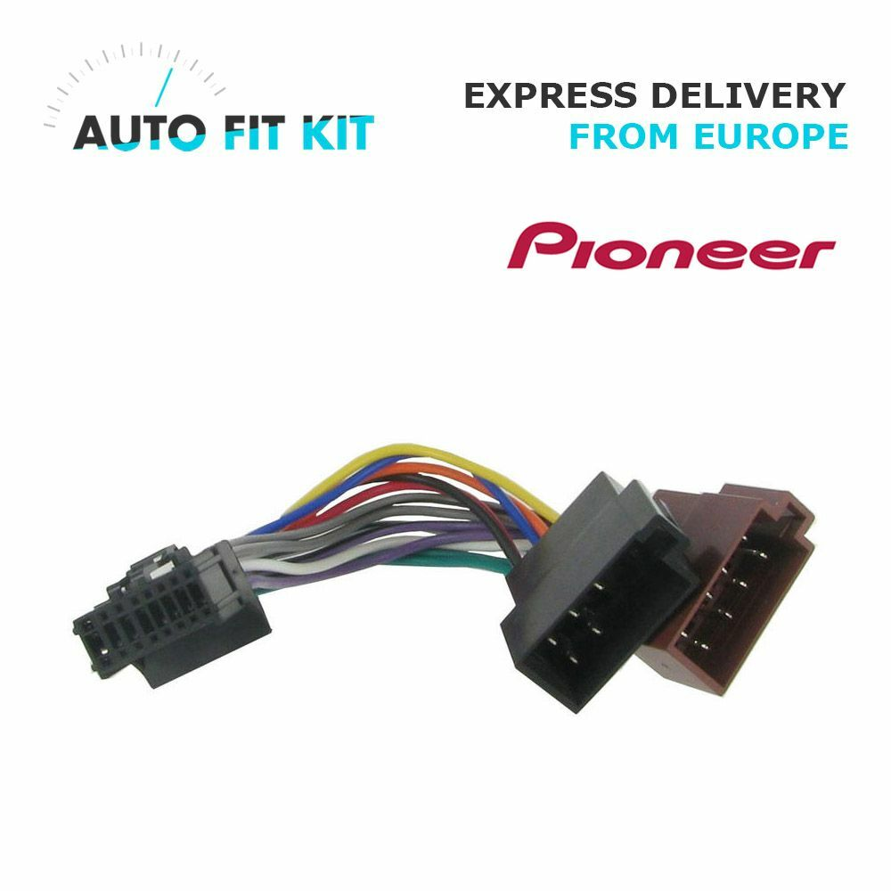 pioneer 16 pin iso wiring harness loom adaptor wire radio connector lead ebay