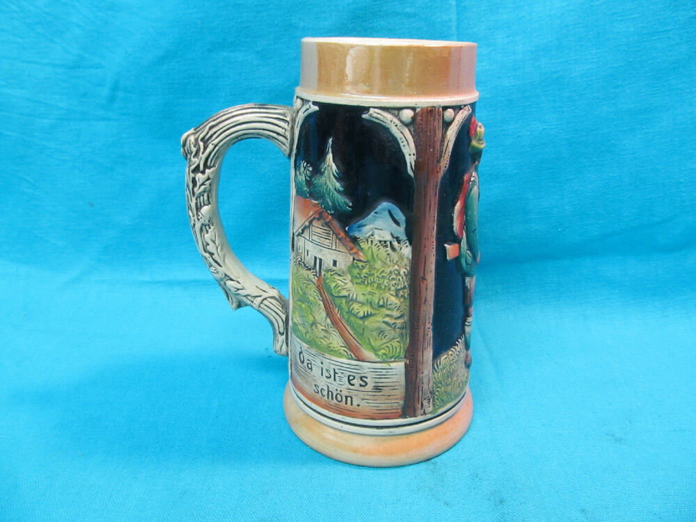 7 western germany beer stein bravo auf der alm da ist es schon ebay. Black Bedroom Furniture Sets. Home Design Ideas