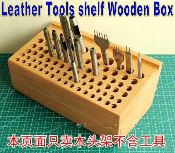 Leather Wall Equipment Holder: Holds 76 Tools Leather Stamps Punches Tools Racks Stamp