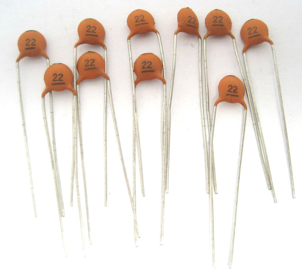 22pf 100v Type Np0 Ceramic Disc Capacitor Ideal For Rf