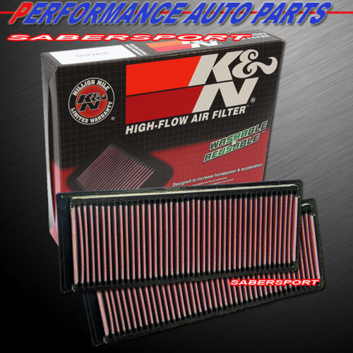 two-kn-332256-hiflow-air-intake-filters-for-0204-mercedes-c32-slk32-amg