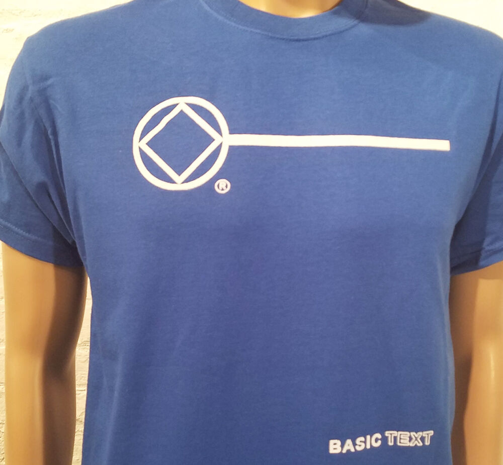 Narcotics Anonymous Na Basic Text T Shirt Blue S 3x