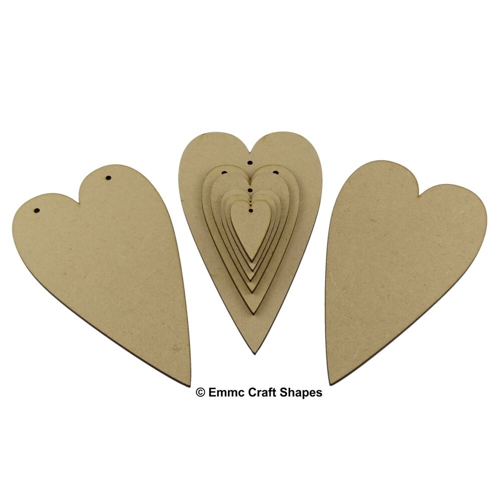 Wooden heart shape wood craft cut out for plaques and for Wooden hearts for crafts