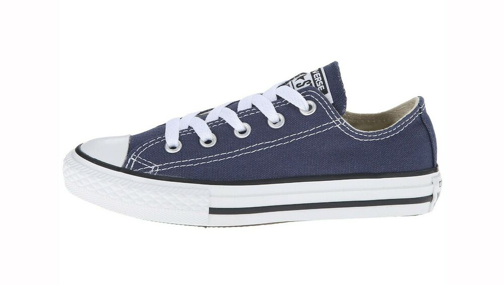 converse all star low top navy blue shoes chucks kids