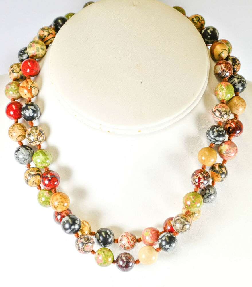 vintage striking beaded necklace ebay