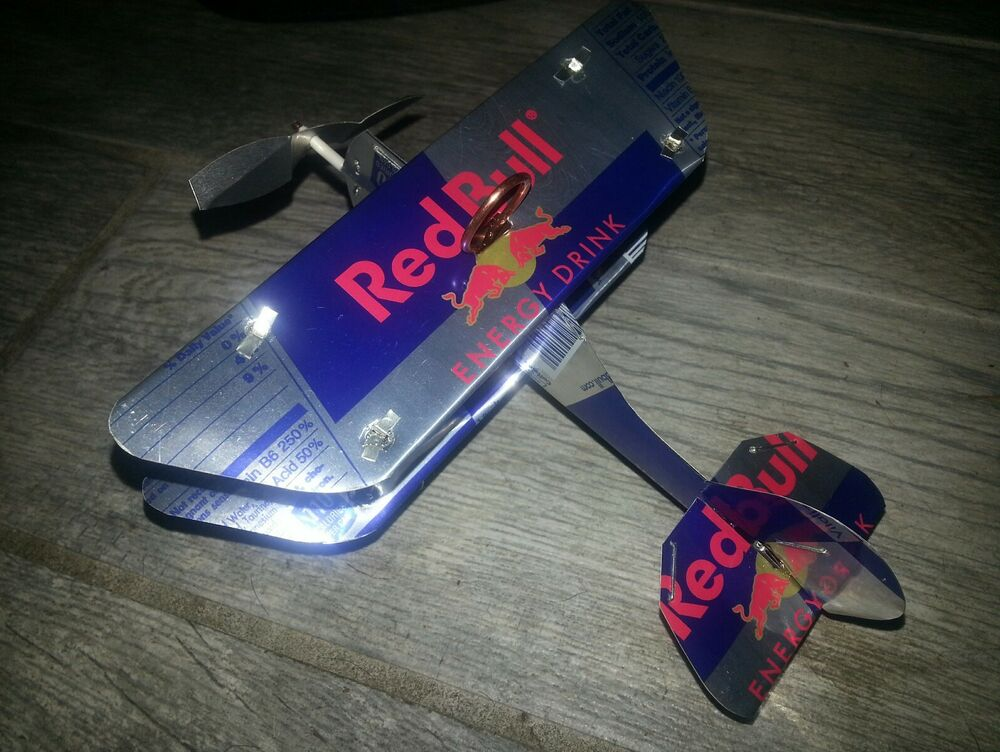 Red Bull Energy Drink Airplane Plane Made From Cans Ebay