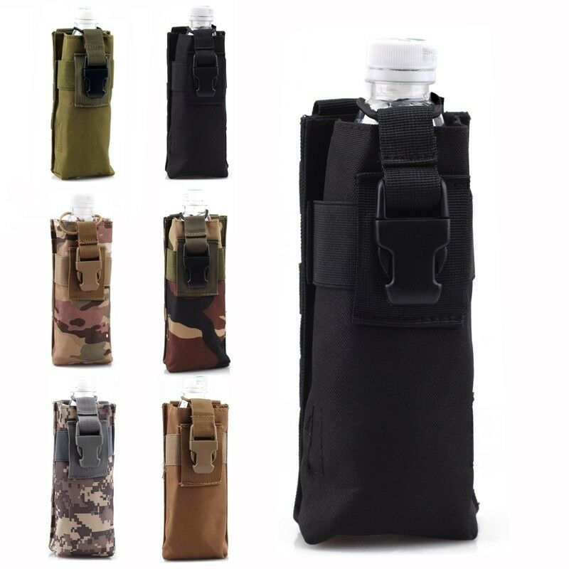 6 colors outdoor molle tactical travel open top water bottle pouch carry bag. Black Bedroom Furniture Sets. Home Design Ideas