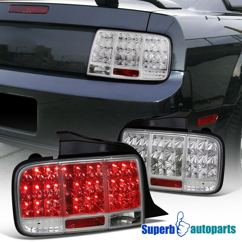 2009 ford mustang led tail stop sequential signal lights chrome ebay. Black Bedroom Furniture Sets. Home Design Ideas