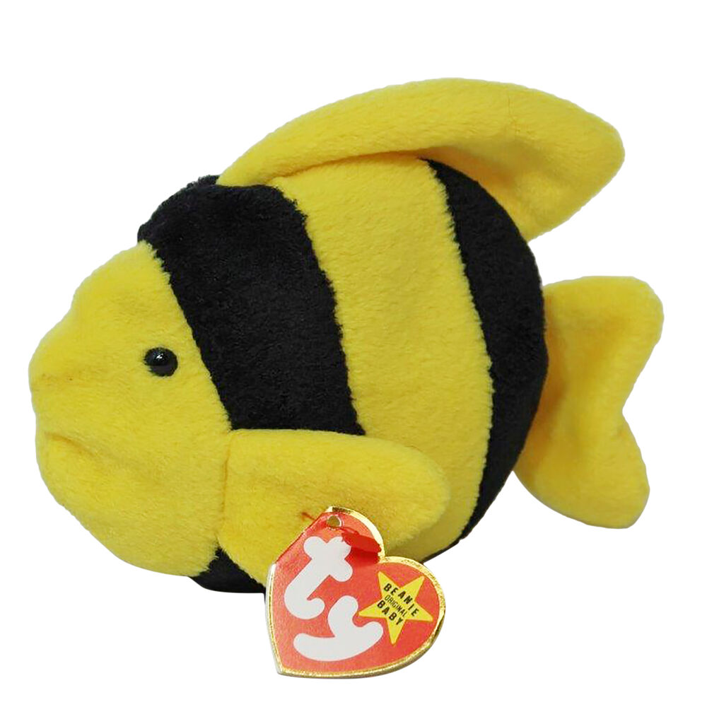 Ty beanie baby bubbles mwmt fish ebay for Fish beanie baby