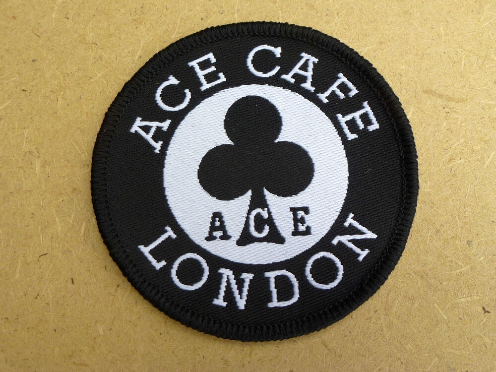 Ace cafe london embroidered patch classic motorcycle