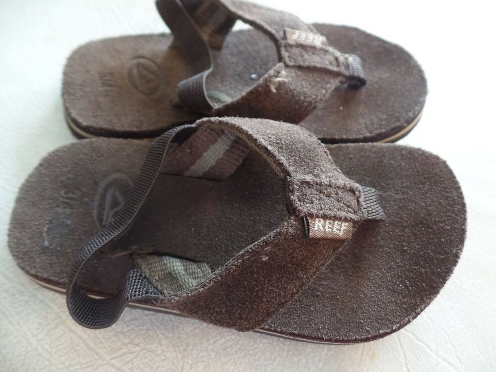 NEW baby toddler REEF SANDALS summer shoes BROWN LEATHER ...