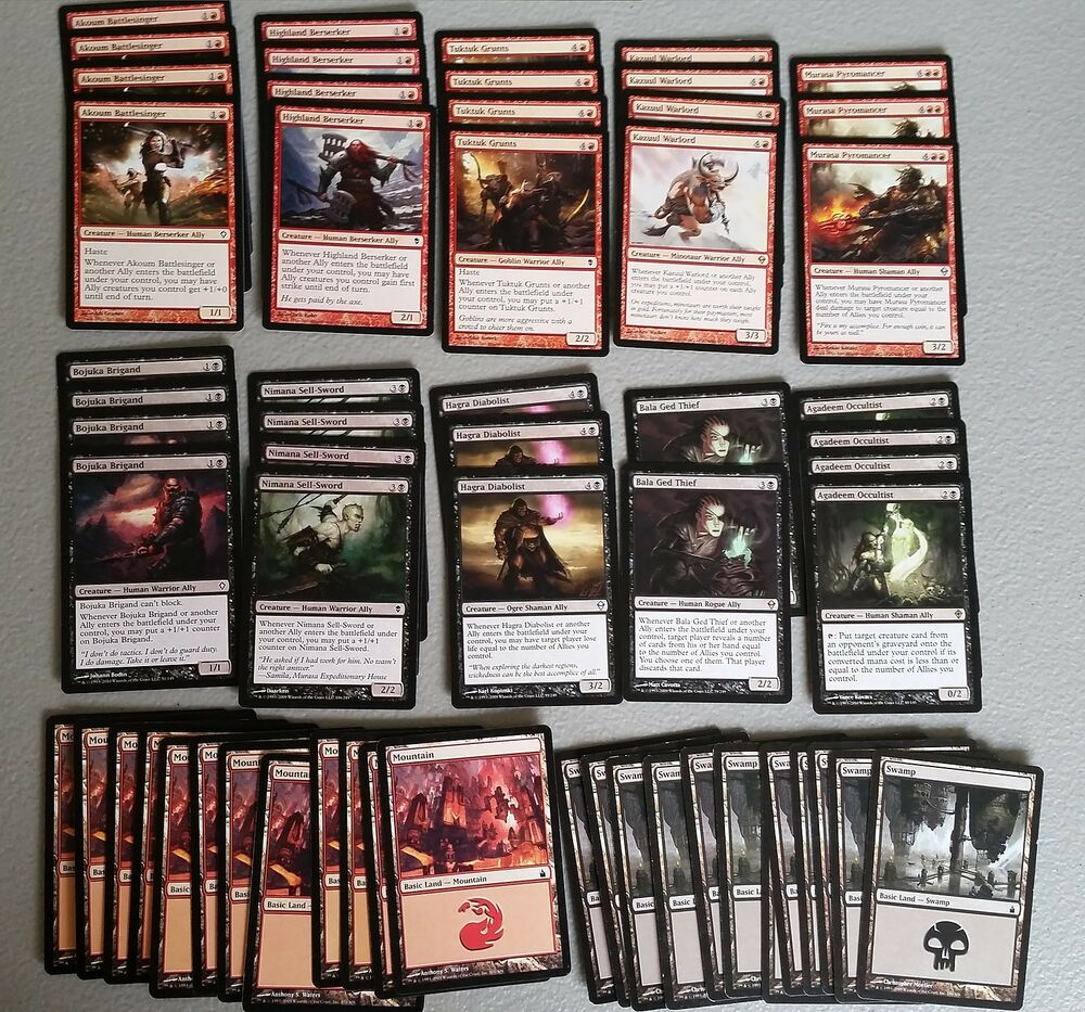 Black Red Ally Deck, 60 Card**Modern*Ready to Play** MTG ... Planeswalker Ally Deck List