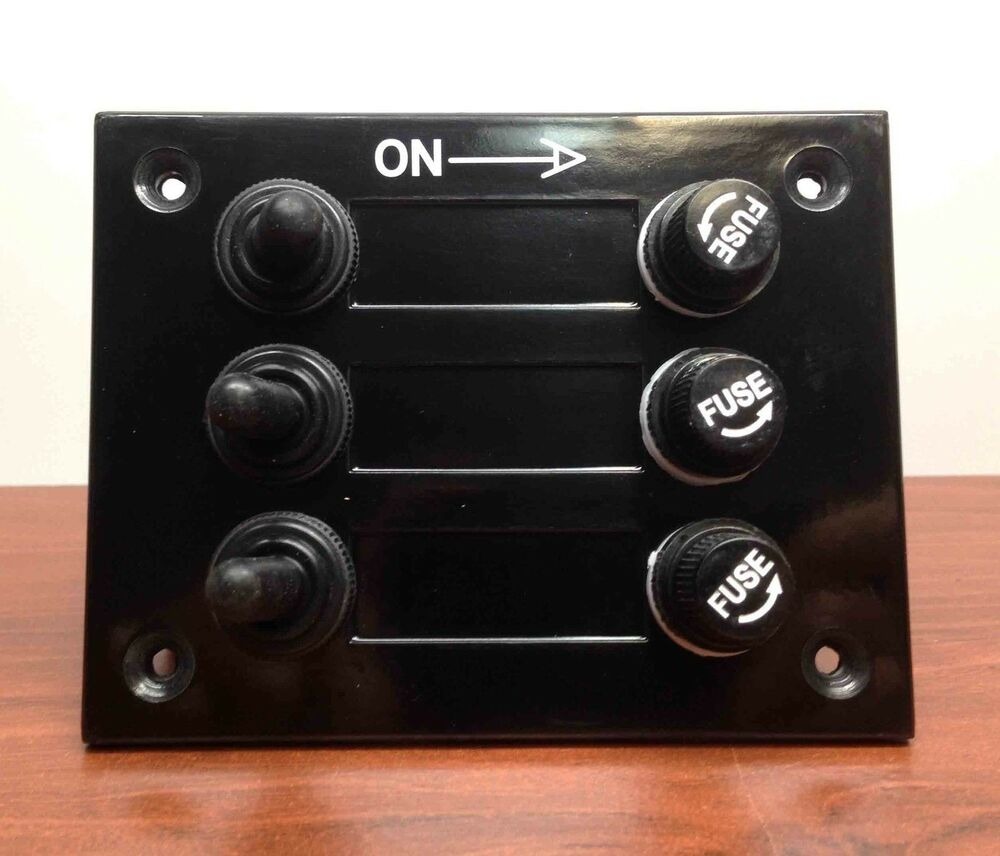 Marine boat gang bakelite plate switch panel with a