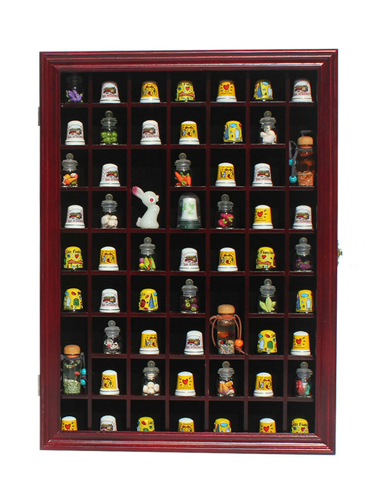 59 thimble display case shadow box cabinet hardwood with for Grandi case cabinate