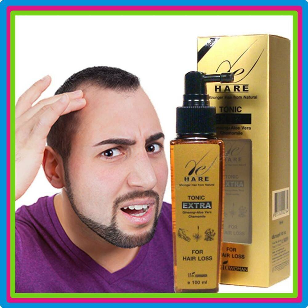 Men Hair Tonic 1950s: DHT BLOCKER THINNING HAIR GROWTH TONIC GINSENG ANTI HAIR