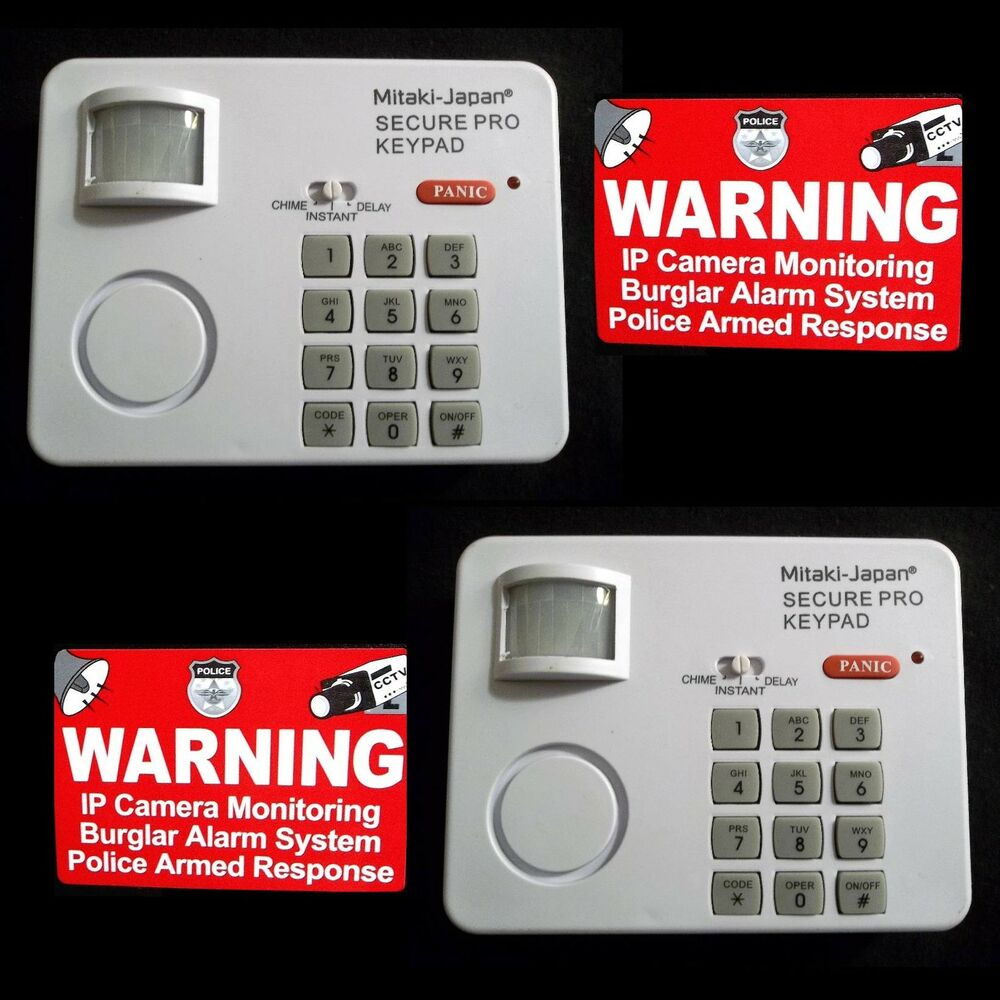 Home Security Motion Sensing Alarm Keypad Window Warning