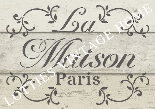 Stencil french a5 la maison for furniture fabric arts for Au maison fabric