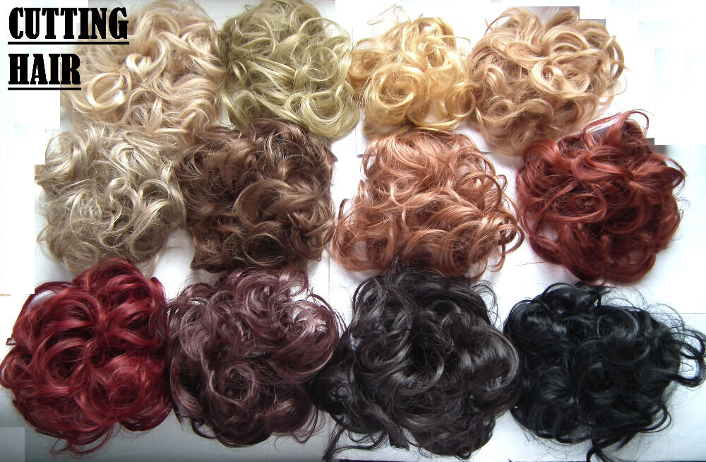 Scrunchie Hair Styles: Elastic Scrunchie Hair Curly Bun Hair Piece Hair Extension